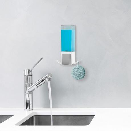 Clever Soap Dispenser // White (Double)