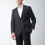Via Roma // Classic Fit Half-Canvas Suit // Charcoal (US: 40L)
