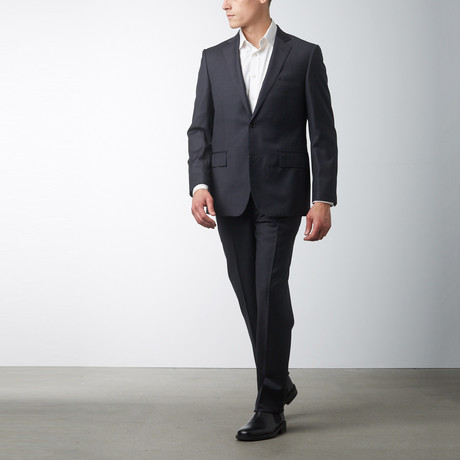Via Roma // Classic Fit Half-Canvas Suit // Charcoal (US: 48L)