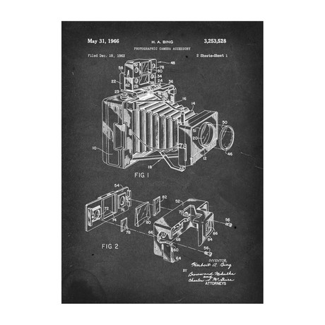 Metal Poster // Photographic Camera