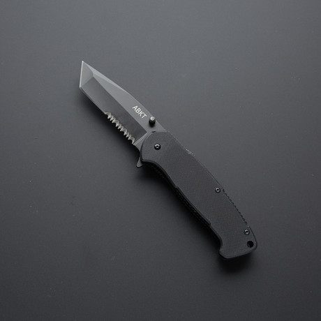 Assisted Opening Liner Lock // 4.5in Long Closed Length + Black G10 Handles