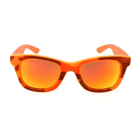 I-Plastik 0090 Sunglasses // Camo Red Orange