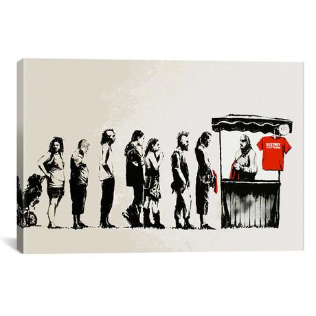 "Destroy Capitalism // Banksy (60""W x 40""H x 1.5""D)"