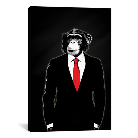 "Domesticated Monkey (26""W x 18""H x 0.75""D)"
