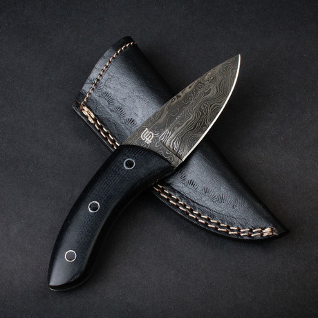 Stealth EDC Handmade Damascus Steel Knife