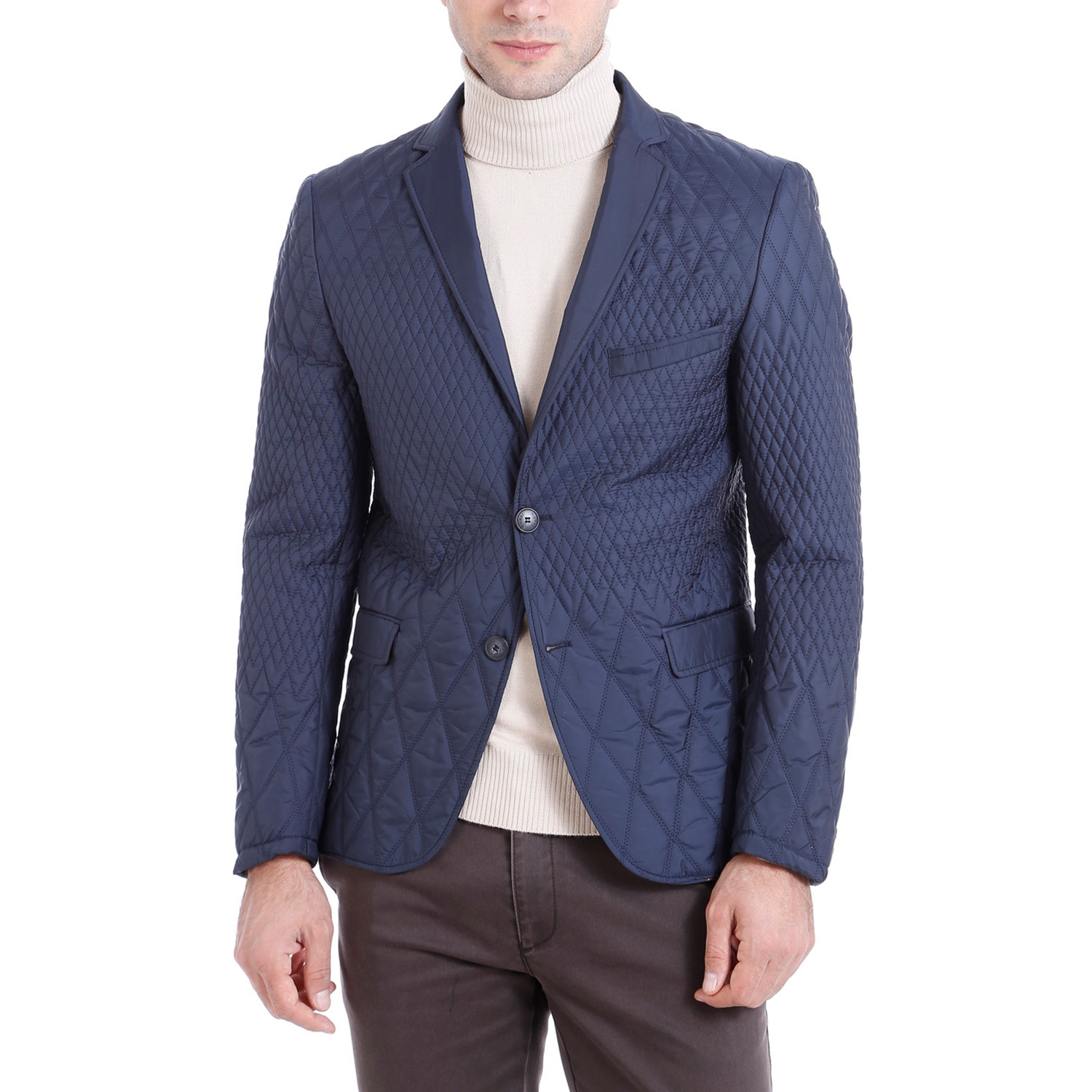 Quilted Blazers: Quilted Blazer // Navy (Euro: 44)