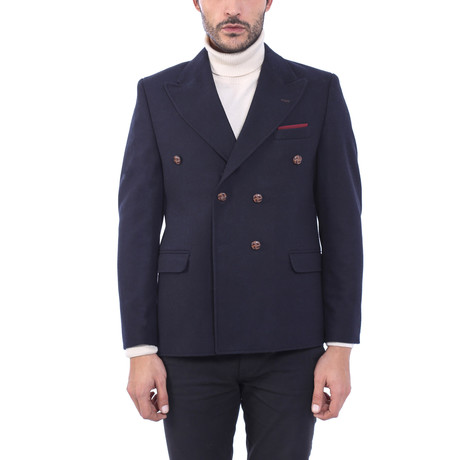 Double Breasted Blazer // Navy (Euro: 44)
