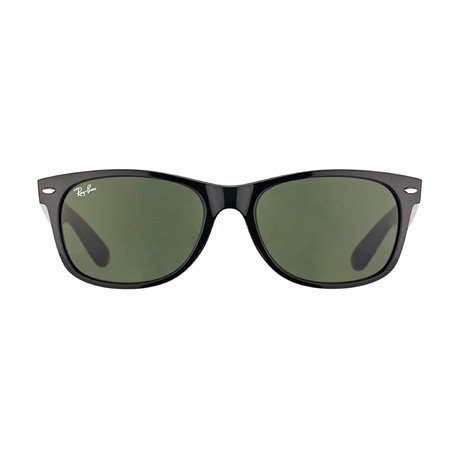New Wayfarer // Black + Crystal Green // Polarized (52mm)