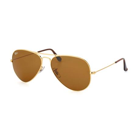Aviator // Gold + Brown