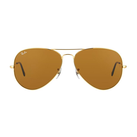 Aviator // Gold + Brown
