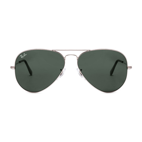 Aviator // Silver + G15 // Polarized (62mm)