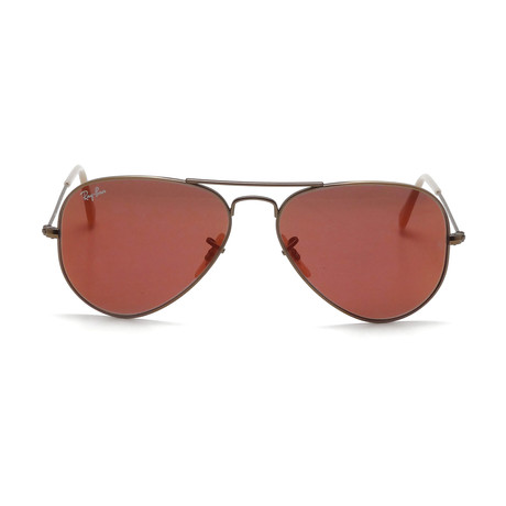 Aviator // Bronze Copper + Red Mirror