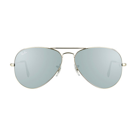 Ray-Ban // Large Aviator // Silver + Silver Mirror