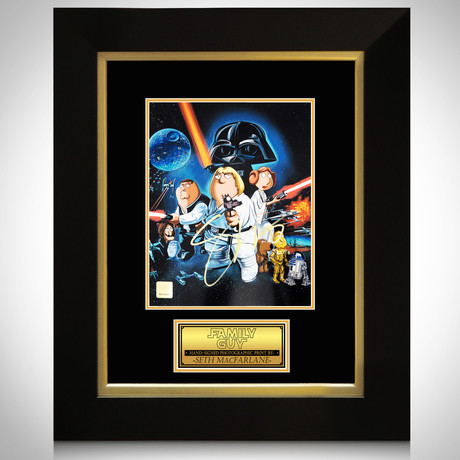 Family Guy Blue Harvest // Seth Mcfarlane Signed Photo // Custom Frame
