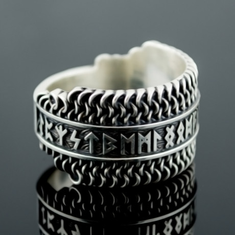Viking Collection // Elder Futhark Runes + Hauberk Ring (5)