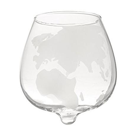 Spinning World Whiskey Glasses // Set of 2