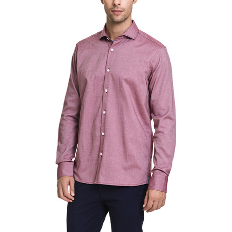 Tyler Casual Button-Up // Red