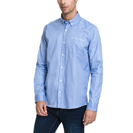 Humberto Casual Button-Up // Light Blue