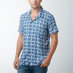 Kayyl Retro Hawaiian Shirt // Blue (XL)