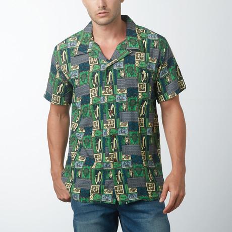 Koi Retro Hawaiian Shirt // Dark Blue (2XL)