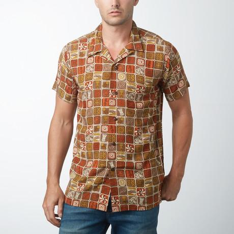 Bane Retro Hawaiian Shirt // Brown