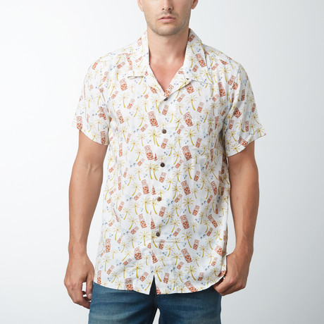 Kona Retro Hawaiian Shirt // Cream
