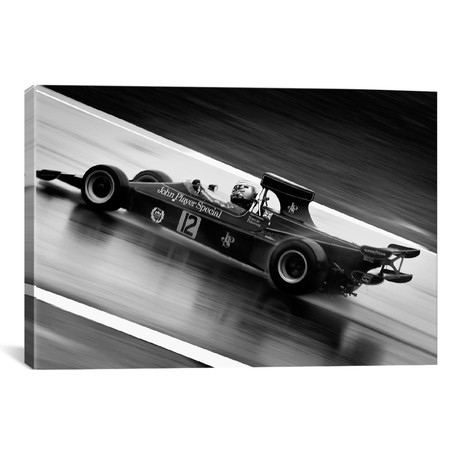 F1 Wet Track Grayscale // Unknown Artist