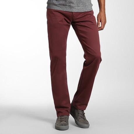 Zach Straight-Leg Pants // Decadent Choco Twill