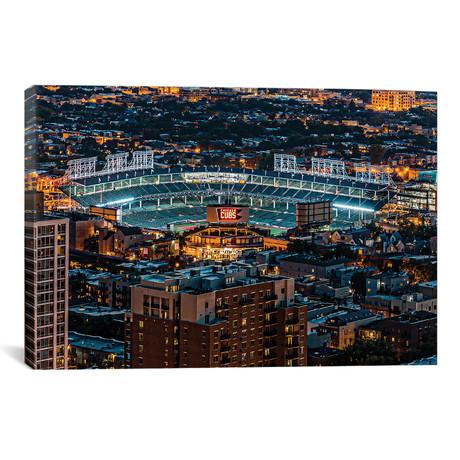 Wrigley Field, Park Place Towers, Nighttime // Raymond Kunst