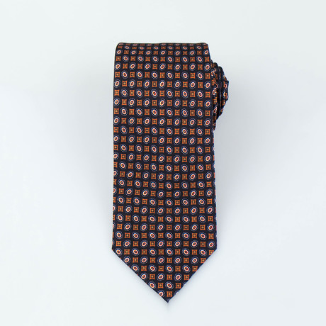 Brioni // Atticus Silk Tie // Brown + Orange