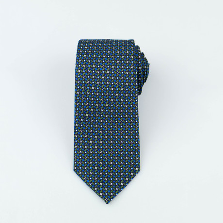 Brioni // Cartwright Silk Tie // Green + Blue