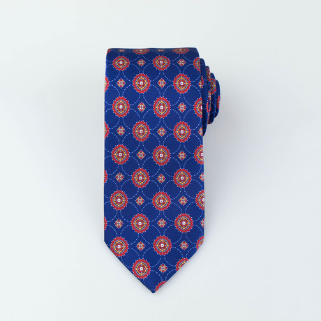 Brioni // Goddard Silk Tie // Blue + Red