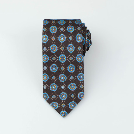 Brioni // Cormac Silk Tie // Brown + Blue