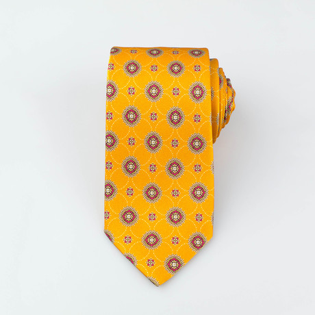 Brioni // Levi Silk Tie // Yellow + Red