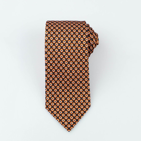 Brioni // Glover Silk Tie // Orange + Black