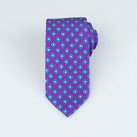 Brioni // Men's Silk Tie 113 // Purple