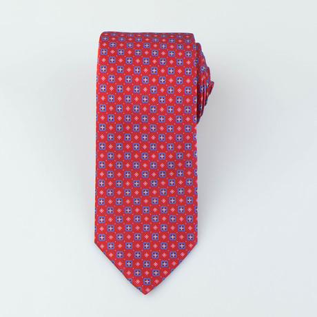 Brioni // Men's Silk Tie 137 // Red