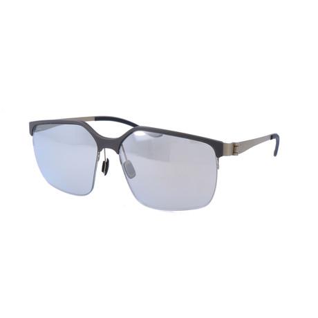 Men's M1037 Sunglasses // Gray + Matte Satin Dark Gold