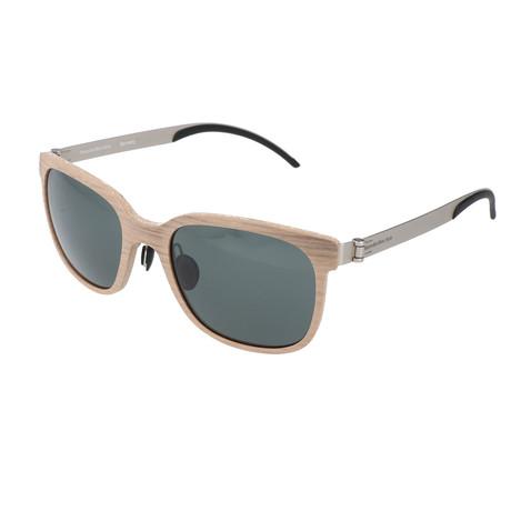 Men's Maxius Sunglasses // Beige Wood