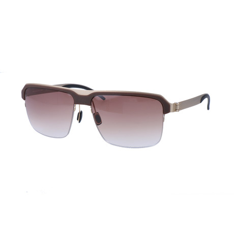 Men's M1049 Sunglasses // Gray + Matte Satin Dark Gold