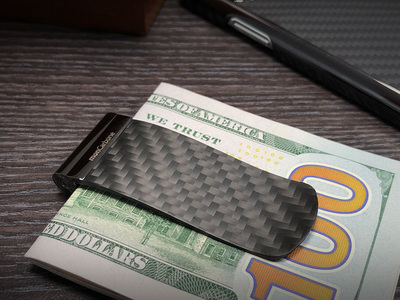 Photo of monCarbone Carbon Fiber Lifestyle Accessories Tension Money Clip // Gunmetal Edition by Touch Of Modern