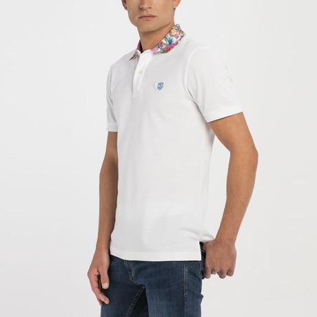 Steven Short Sleeve Polo // White