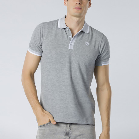 Short Sleeve Polo XI // Gray Melange