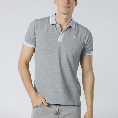 Short Sleeve Polo XI // Gray Melange