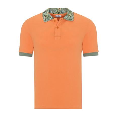 Short Sleeve Polo I // Orange