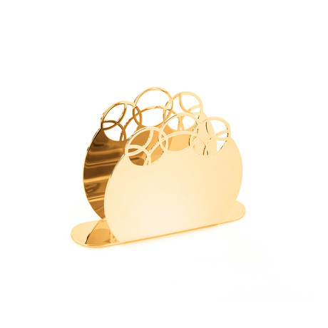 Bubble 24 Karat Gold Plated Napkin Holder