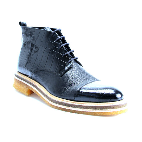 Reprise // Xavier Cap Toe Boot // Black (Euro: 40)