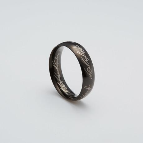 LOTR Ring // Black Zinc (Size 7)
