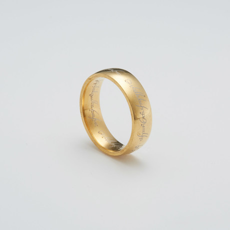LOTR Ring // Gold (Size 7)