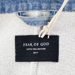 Fear Of God // Fifth Collection Heavy Terry V-Neck Polo Shirt // Gray (M)
